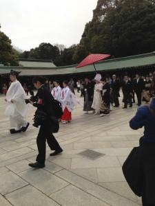 Meiji Shrine Wedding Procession